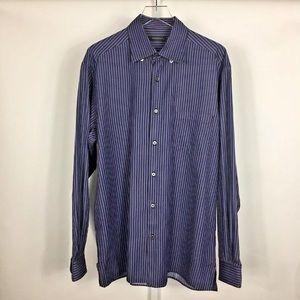 Ermenegildo Zegna Men's Dress Shirt Italy Size L